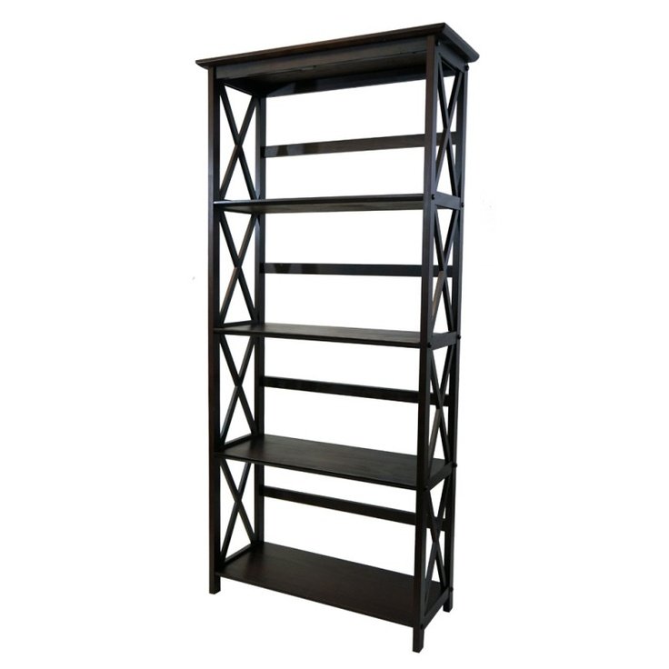 5tier montego style bookcase this versatile bookcase from our montego collection features a simple and design that will accentuate