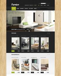 Ce template e-commerce Clicboutic est élégant et contemporain et conviendra à la vente en ligne de meubles