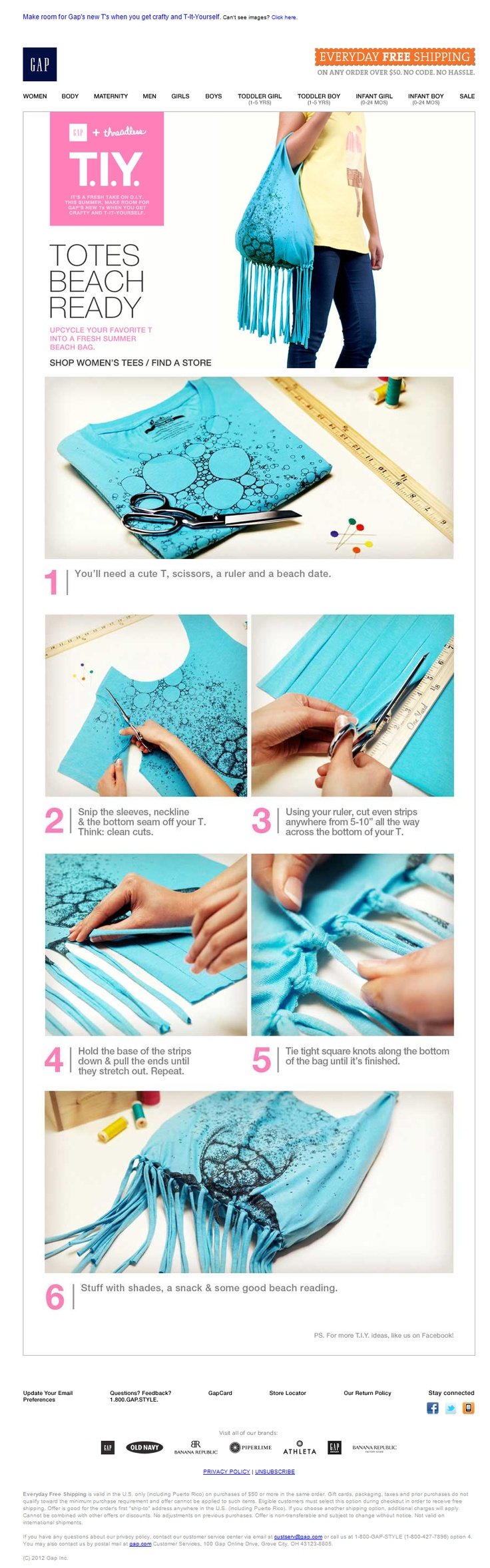 GAP | step by step DIY + soft sell