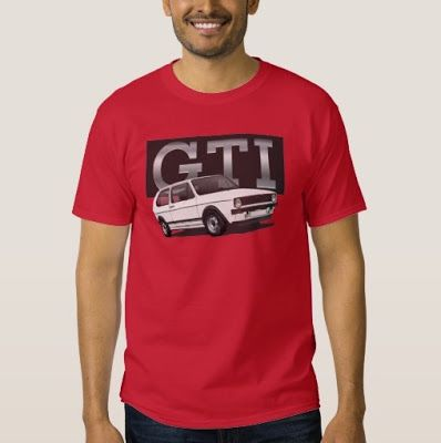 VW Golf GTI Mk1 t-shirts on Zazzle. Customize, with text or without.  #golf #golfgti #volkswagen #rabbit #tshirt #automobile #car