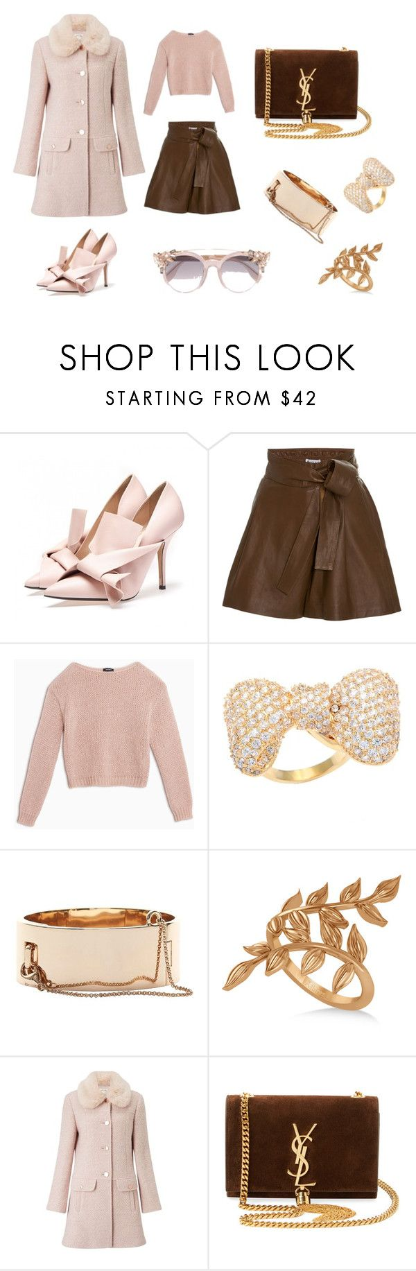 MARY ROSE by DAMIANI LAURA on Polyvore featuring moda, Max&Co., Miss Selfridge, Apiece Apart, Yves Saint Laurent, Allurez, Eddie Borgo, Kate Bissett and Jimmy Choo