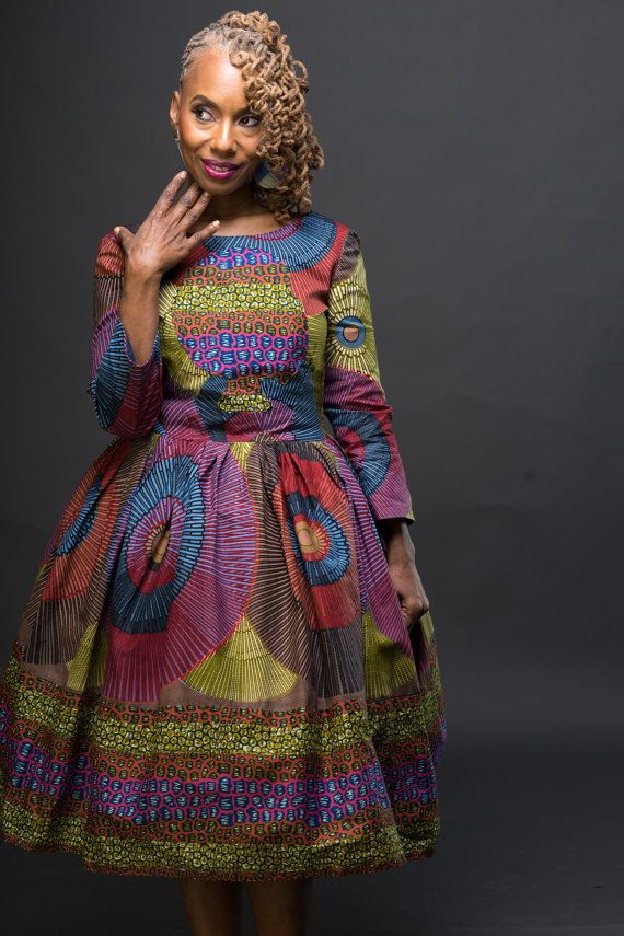 Exclusive The Li Li Afro Belle Dress Made from by LiLiCreations