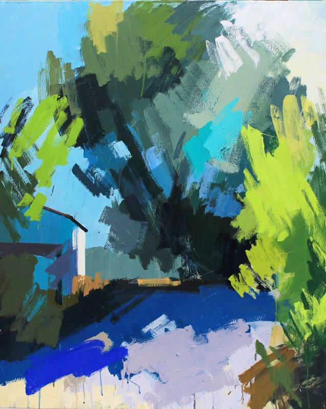 Mas Fabian, no.3.  Oil on canvas 40 x 32 ins.  Philip Richardson