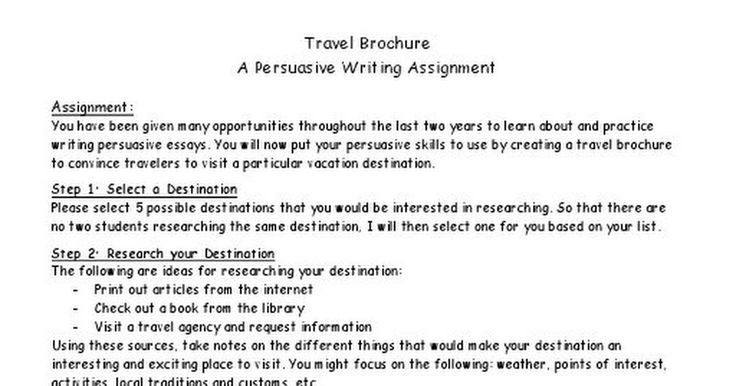 "persuasive writing assignment Often persuasive writing assignments and test prompts concern contemporary issues, for example: ""the school board is debating on whether or not to ban cell phone use in school write an essay convincing the board to adopt your position""."