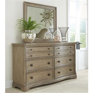 Corinne Six Drawer Dresser And Landscape Mirror I Riverside Furniture
