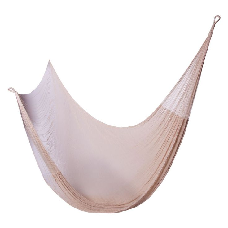 Short Hanging Distance OutdoorMexican Hammock, Off-White