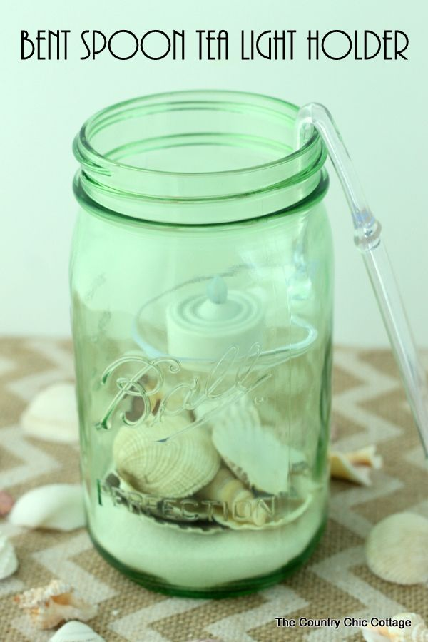 Make a bent spoon tea light holder for a mason jar in just minutes with this technique.