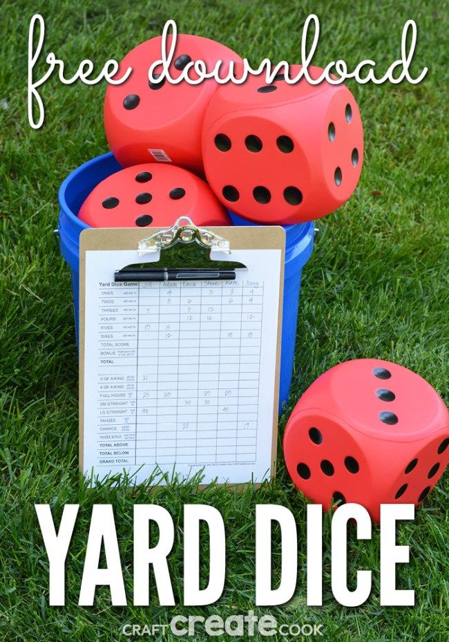 DIY Yard Dice Lawn Game Camping CraftsFun