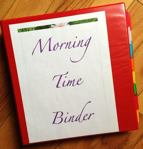 Introducing Morning Time Binder And How To Use It