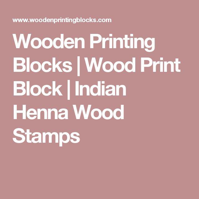 Wooden Printing Blocks | Wood Print Block | Indian Henna Wood Stamps