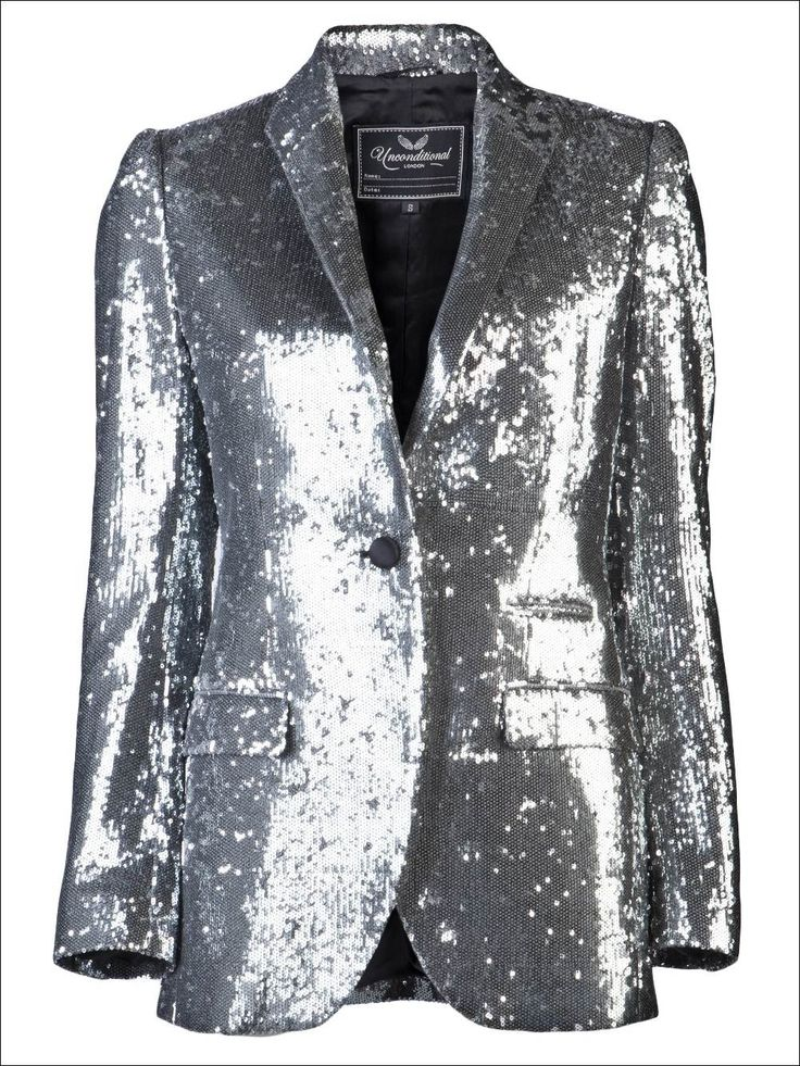 Silver Sequin Blazer For Women. Oh yeah - think I should wear one ...