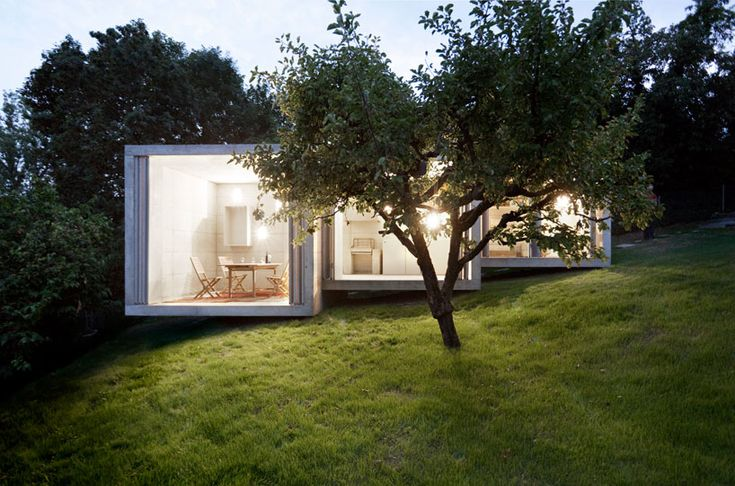 'the garden shelf' by dreier frenzel architecture is a summer pavilion for a family in geneva, switzerland.