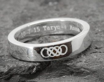 Double infinity ring infinity ring for men sterling by JubileJewel