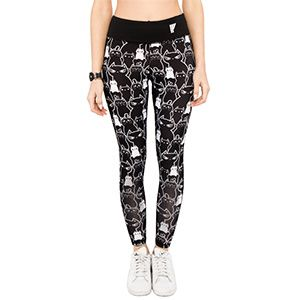 Let these leggings covered in adorable cats adorn your own fierce bursts of activity. With flat seams and 360° stretch, they're great for working out, going clubbing, or just looking like you work out.
