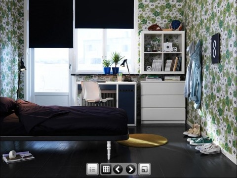 Boys Dorm Room Decorating Idea With 2011 Ikea Teen Bedroom Furnitures