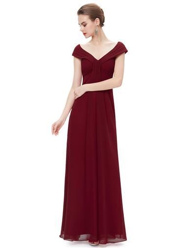 Ever Pretty Elegant Off Shoulder V Neck Long Party Dress