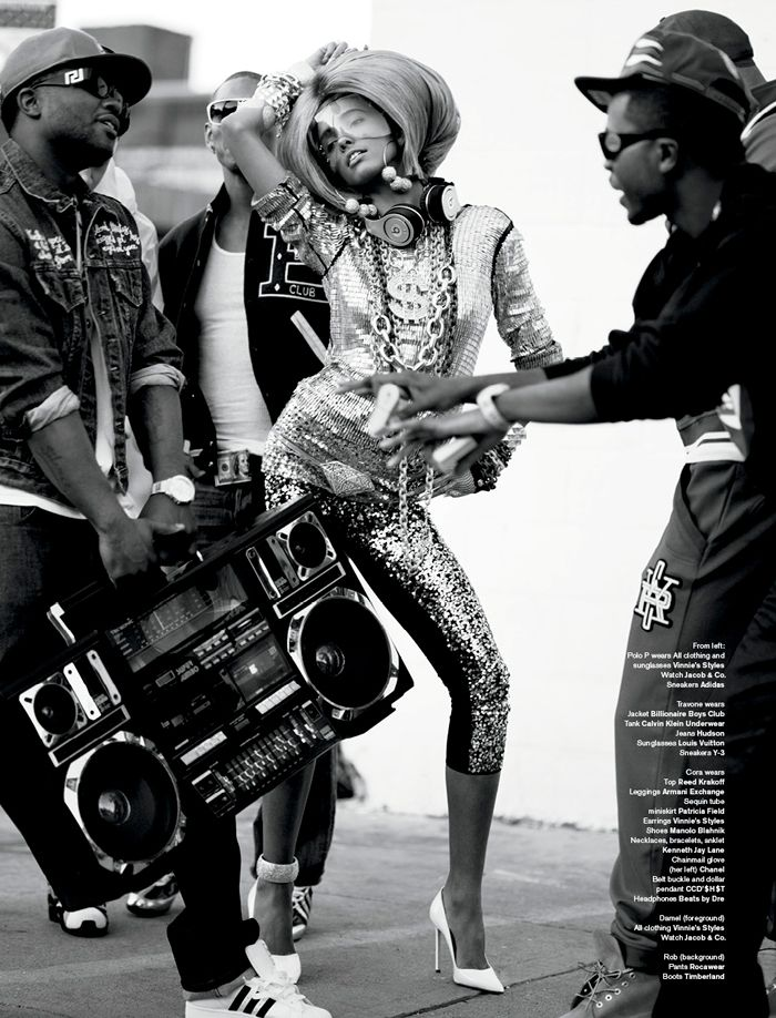 Fashion has always followed its own beat and V Magazine first ever Music issue (on stands January 12th) pays tribute to the dynamic influence of trend setting performers through the ages. Inside V75 Sebastian Faena and Carlyne Cerf De Dudzeele explore the relationship between hip hop & high fashion in an outlandish editorial.