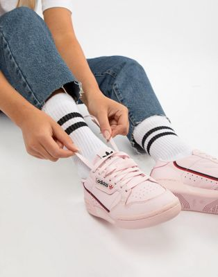 best sneakers e82be 7bc56 Shop adidas Originals Continental 80s Sneakers In Pink at ASOS. Discover  fashion online.