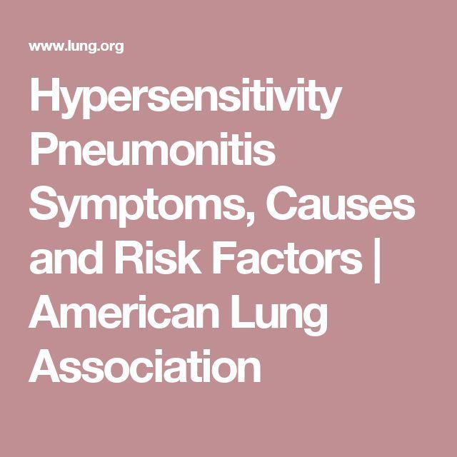 Hypersensitivity Pneumonitis Symptoms, Causes and Risk Factors   American Lung Association