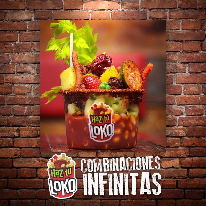 tu escoges tu combinación, entre mas de 100 antojos, le agregamos salsas y el deliloko tomattoLOKO® mmm... creamos sonrisas!