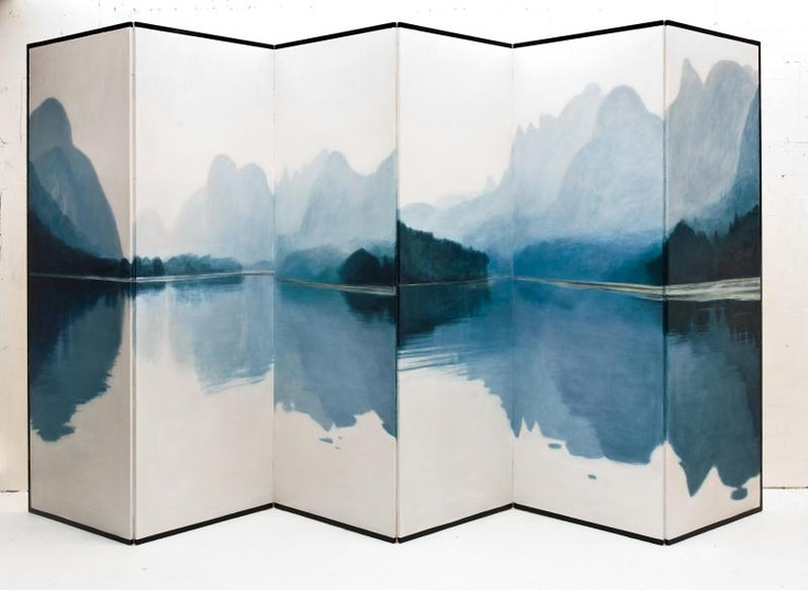 from an art exhibition -Following the Blue Ribbon: Recent Works by Gerda Leenards. This is blissful