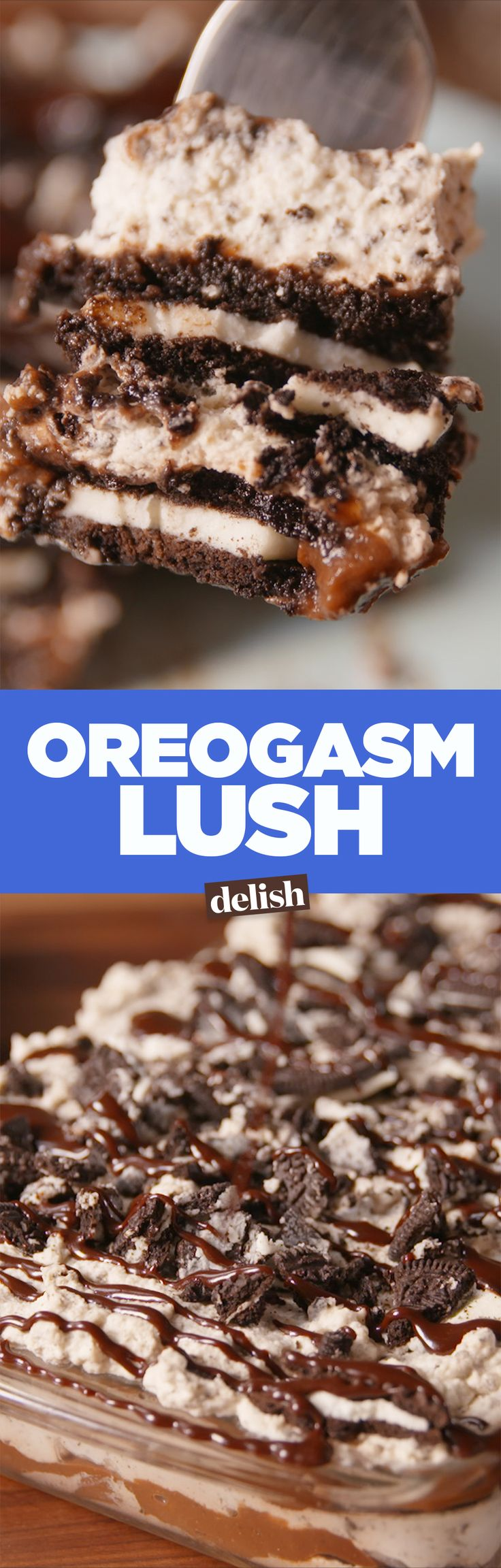 If you don't know what Oreogasm lush is, you're missing out. Get the recipe on Delish.com.