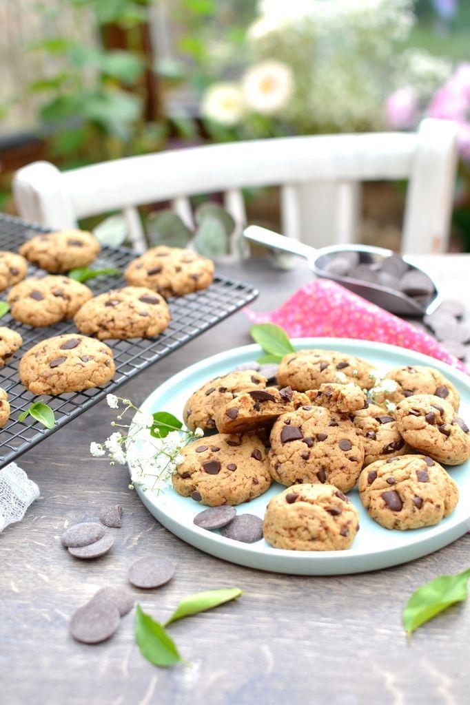 Cookies aux pépites de chocolat [ Recette de base ]