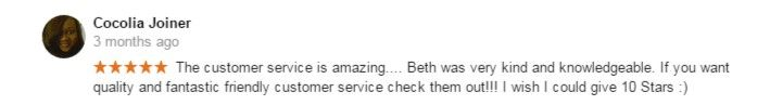 ⭐️⭐️⭐️⭐️⭐️Check out this 5 star Google review by Cocolia!