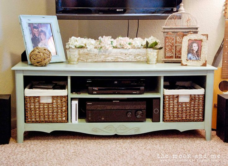 The Moon and Me: Entertainment Center to TV Console Makeover