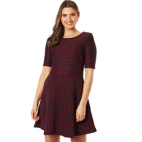 Esprit Kleid, gestreift, ausgestellter Rock, für Damen in ...