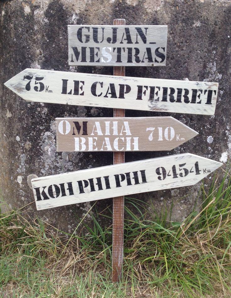 1000 idées sur le th u00e8me Panneaux De Direction sur Pinterest Panneaux de direction de mariage  # Panneau Direction Bois
