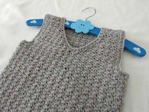 How to crochet a textured v-neck vest tutorial - any size, My Crafts and DIY Projects