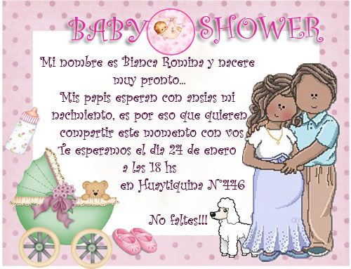 modelo tarjeta invitacion baby shower | Bienvenida bebe | Pinterest
