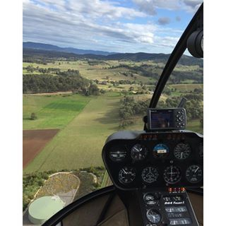 The Hunter Valley from above care of Slattery Helicopters