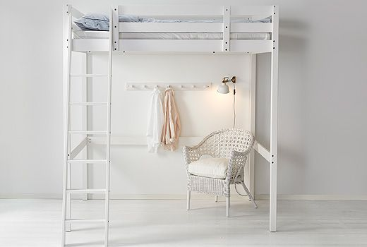Beliches e camas altas, dá mais espaço para a diversão.