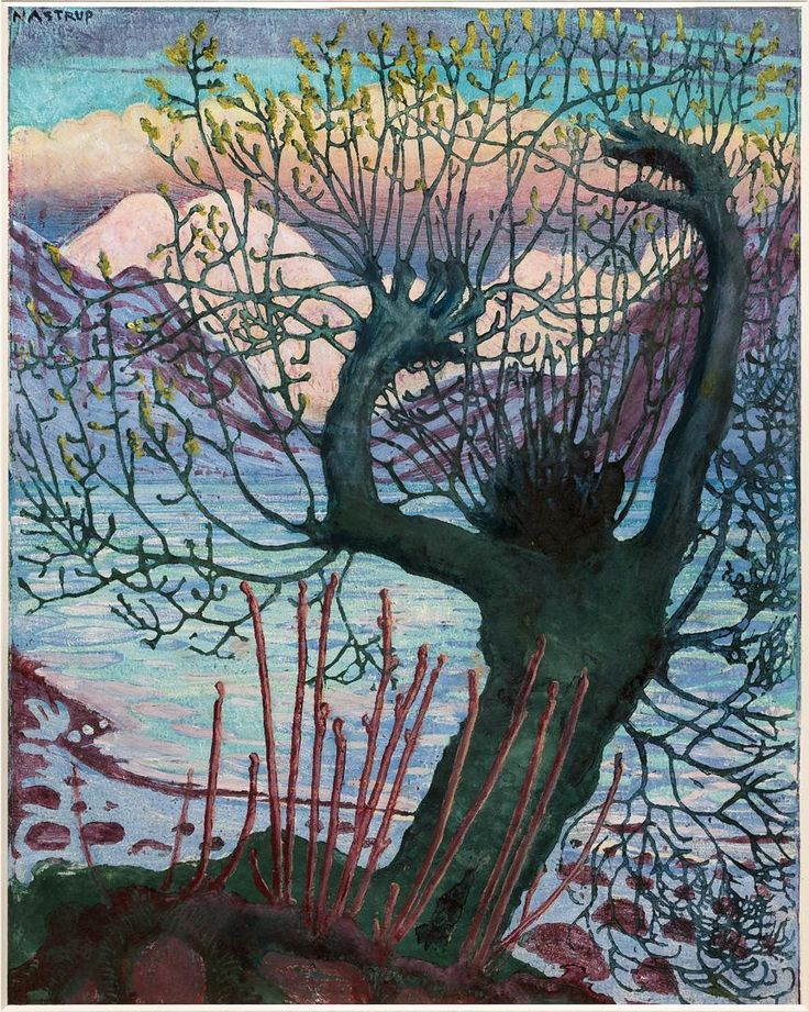An artist should see nature as would a child, claimed Astrup. KODE's new Astrup exhibition focuses on the artist's early works, looking closely at his development in the direction of naïvism. Several