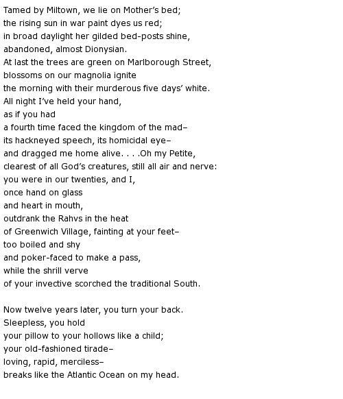 """""""Man and Wife"""" by Robert Lowell"""