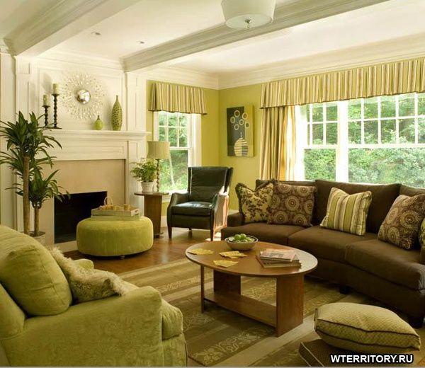Выбираем цвет. Зеленый + коричневый - Дизайн интерьера дизайн интерьера