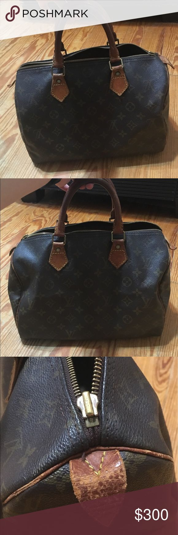 Louis Vuitton Speedy 30 Louis Vuitton speedy 30, authentic, bought it in hopes of revamping but haven't gotten around to it. Great bag, just needs some TLC. Code VI 1982 Louis Vuitton Bags Totes