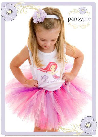 Little Mermaid Tutu Dress Toddler Tank Top by PansyPieBoutique, $37.50