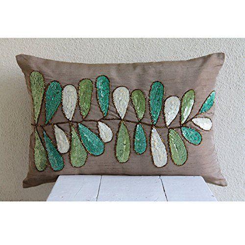 Designer Brown Standard Pillow Shams, Sequins Leaves Stan... https://www.amazon.com/dp/B016H8SLJU/ref=cm_sw_r_pi_dp_x_jXGFybH9JVM41