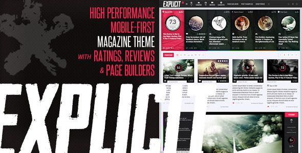 Explicit – Stylish & Mordern High Performance Review/Magazine Responsive WordPress Theme