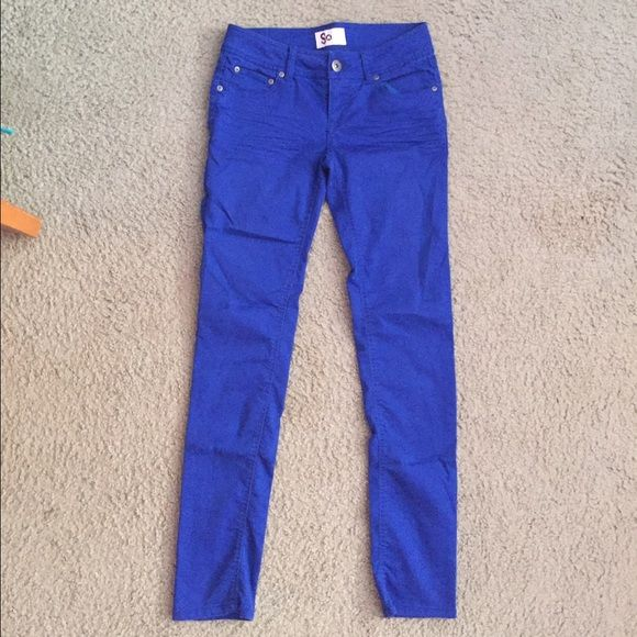 Royal blue jeans Beautiful royal blue stretchy, comfortable jeans. Price is negotiable Pants Skinny
