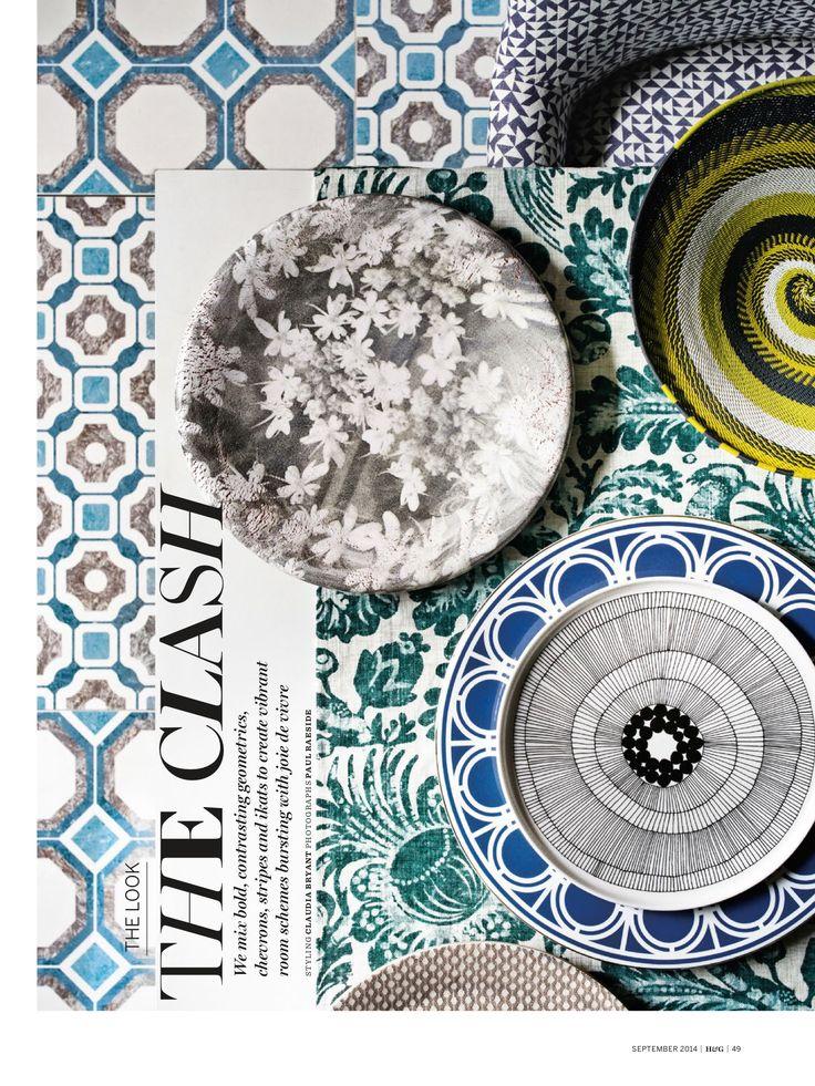 Sept @homesandgardens magazine #patternclash Heidi Harrington Wood Anemone porcelain plate