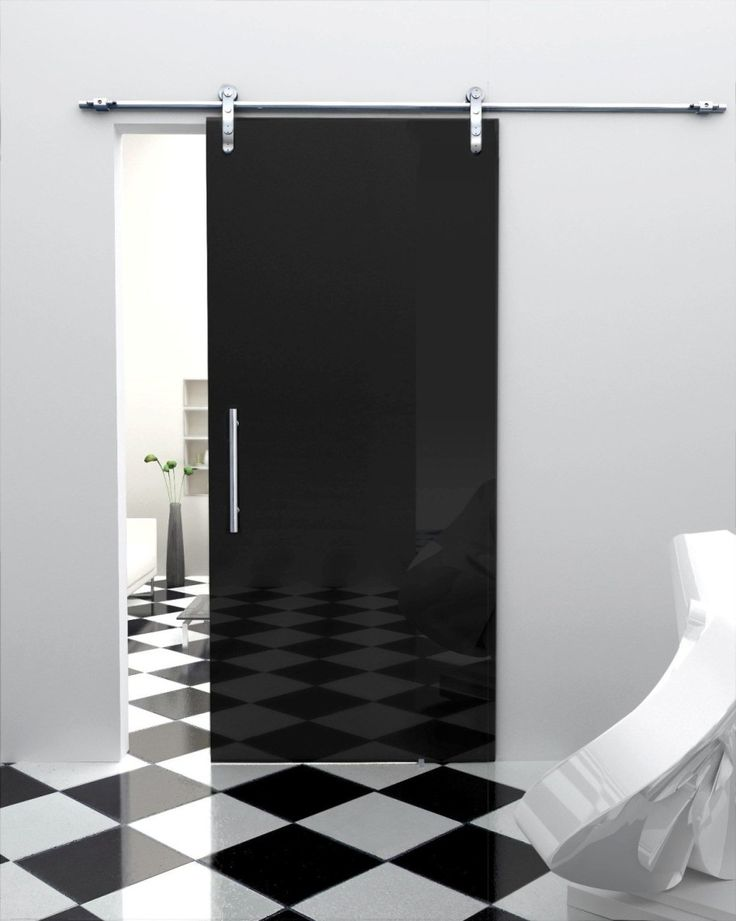 clean-checkerboard-floor-tile-background-paired-with-plain-white-wall-paint-color-also-black-glass-sliding-interior-door-design-909x1138.jpg (909×1138)
