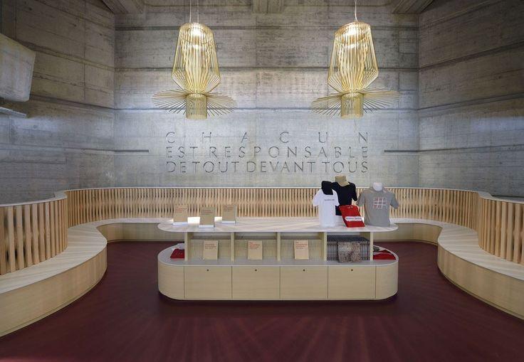 Musée de la croix rouge à Geneve, suspension Allegro de Foscarini