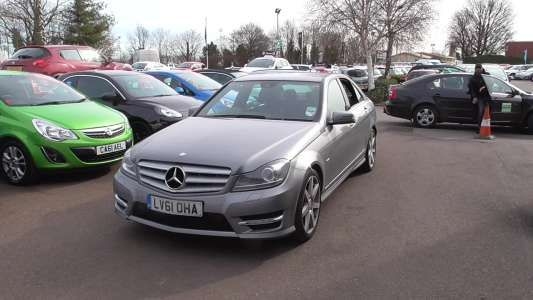 Used 2011 (61 reg) Silver Mercedes-Benz C Class C220 CDI BlueEFFICIENCY Sport Ed 125 4dr Auto for sale on RAC Cars