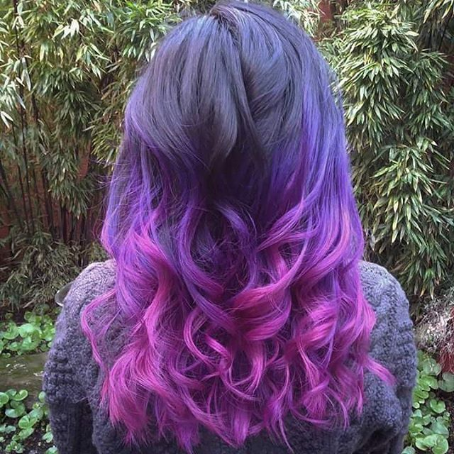 """37 Likes, 1 Comments - cruelty free hair care! (@akemisalon) on Instagram: """"When your old color is growing out, just throw some bright pink on that ombre for a while new look!…"""""""