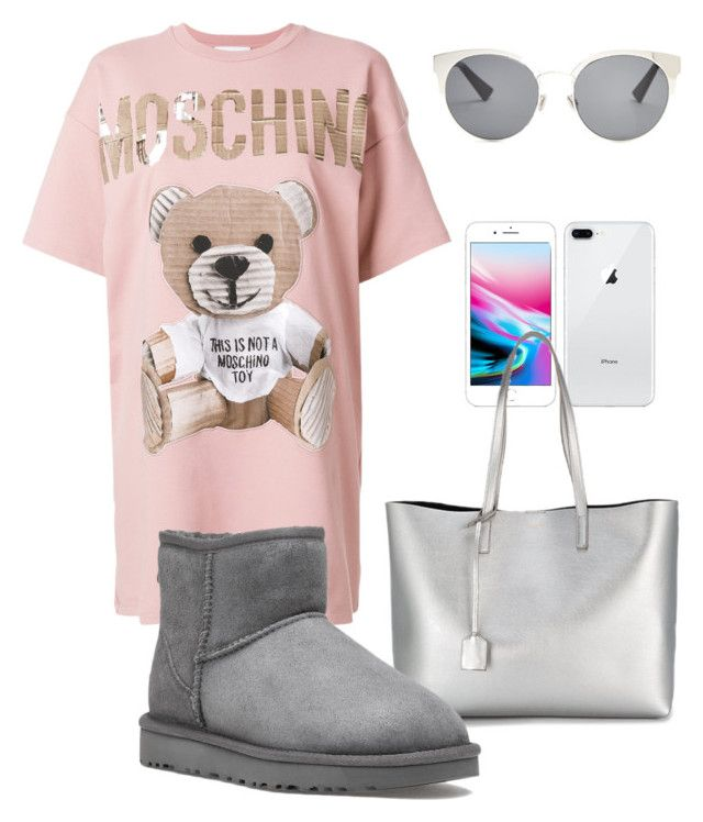 """""""Out to Target"""" by tothmerci on Polyvore featuring Moschino, Yves Saint Laurent, UGG and Christian Dior"""