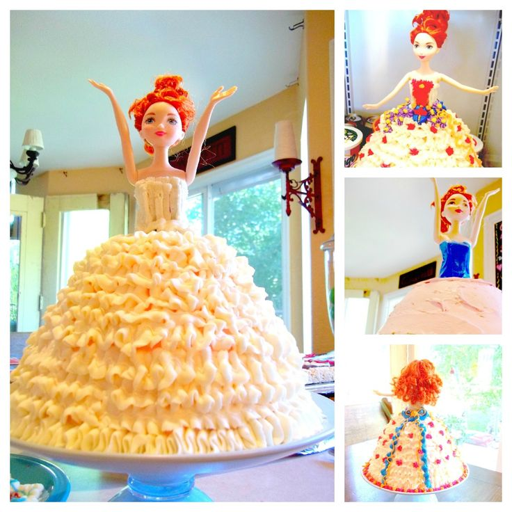 how to make a doll cake without the special pan